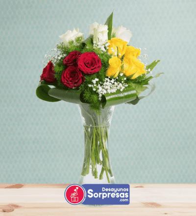 Arreglos Florales Express Bogota, Desayunos Sorpresa.com, Bouquet con Florero