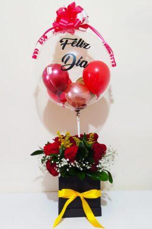 Arreglo floral en caja especial Producto_desayunossorpresas.com