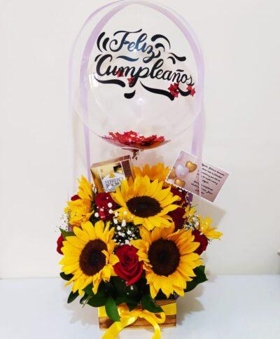 Arreglo floral Día especial Producto_desayunossorpresas.com