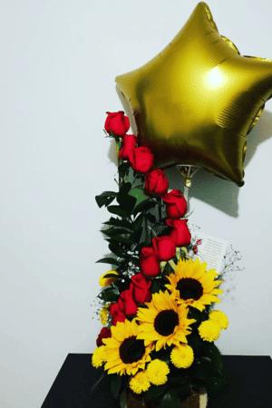 Arreglo floral rosas especiales, desayunossorpresas.com