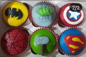 Cupcakes Super Heroes, Patys Cup Cakes, Desayunos Sorpresas.com