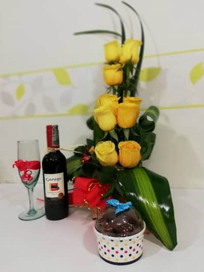 Arreglo Floral Con Chocomelos, Desayunos Sorpresas.com, Seccion 2