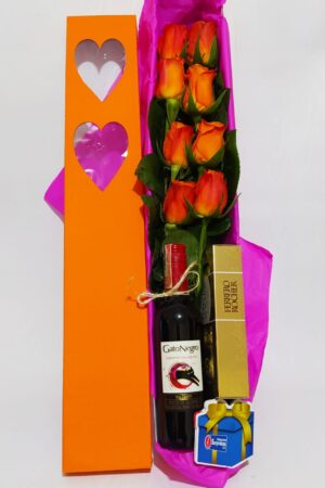 Arreglo Floral Caja sencilla Producto_desayunossorpresas.com