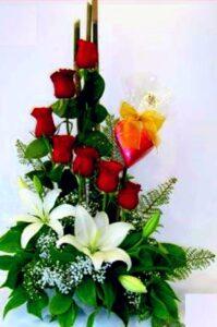 arreglo floral te amo galeria de productos desayunossorpresas.com