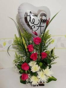 Arreglo Floral Te Amo, DEsayunos Sorpresas.com, Foto 1