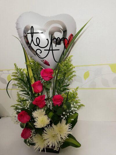 Arreglo Floral Te Amo, DEsayunos Sorpresas.com,