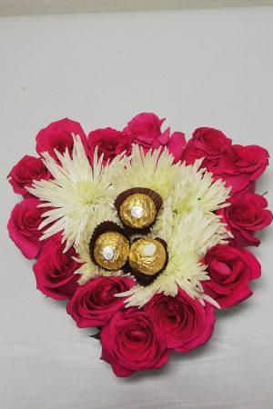 Detalle Caja de Rosas, Desayunos sorpresas.com, 1
