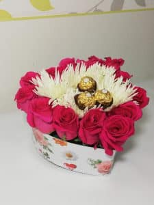 Detalle Caja de Rosas, Desayunos sorpresas.com, 2