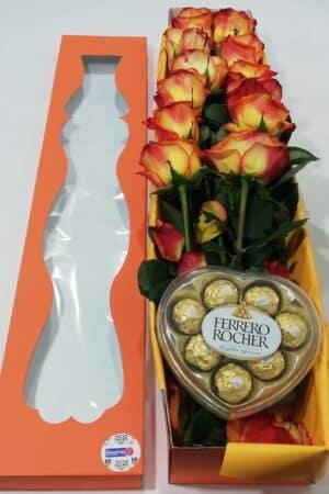 Arreglo Floral en caja, Desayunos Sorpresas.com, D1