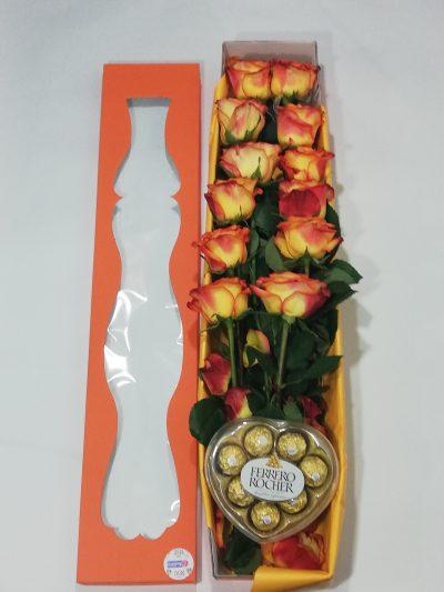 Arreglo Floral en caja, Desayunos Sorpresas.com, D2