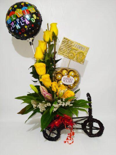 """Arreglo floral """"Paseo floral"""" Producto_desayunossorpresas.com"""