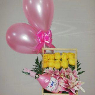 geleria: Detalles express-canasta champaña francesa con rosas-desayunossorpresas.com
