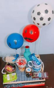 galeria de desayuno detalle con globos