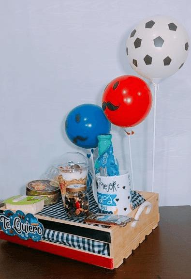 galeria 2 de desayuno detaller con globos